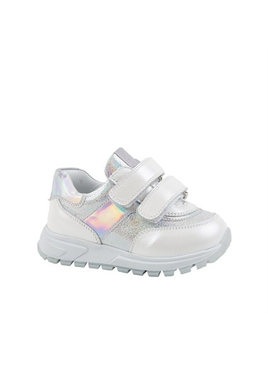 Kids A More Reina Çift Cırtlı Deri Kız Çocuk Sneaker  Beyaz